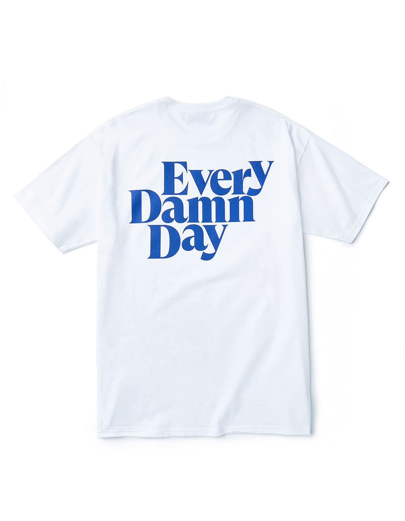 Every Damn Day T-shirts - White/Blue