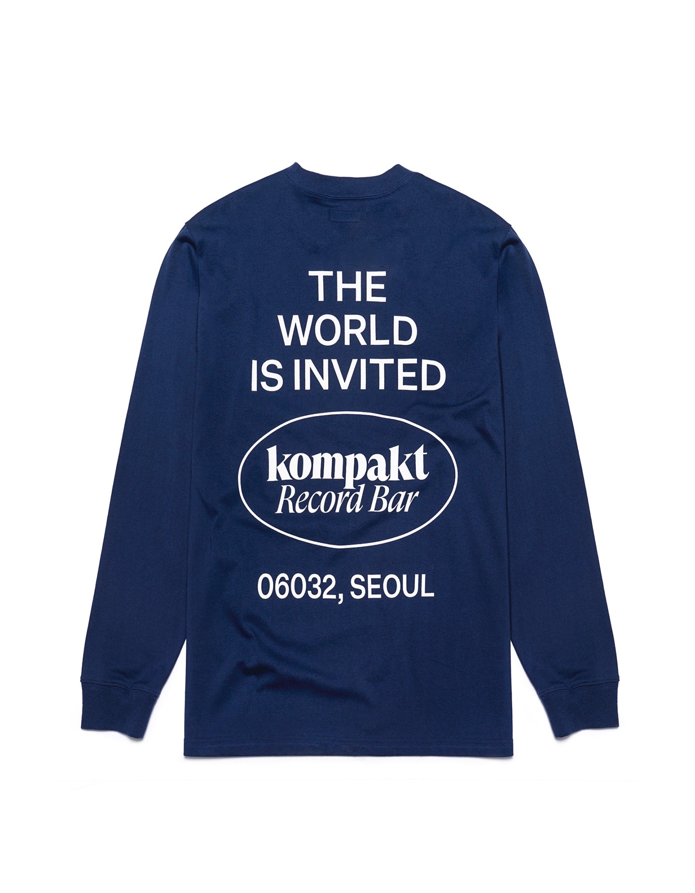 The World Is Invited L/S - Navy/White