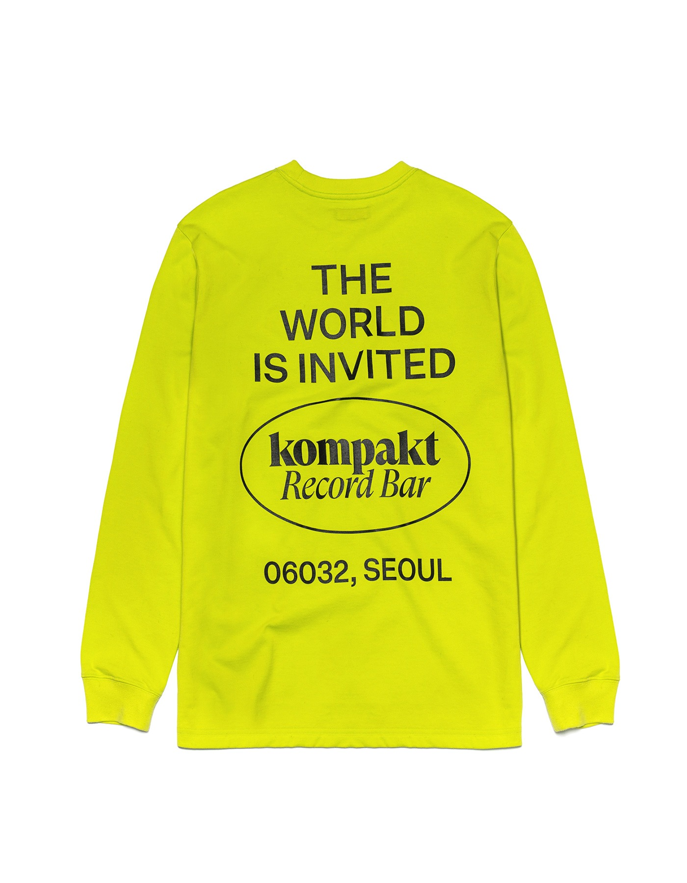 The World Is Invited L/S - Neon Green/Black