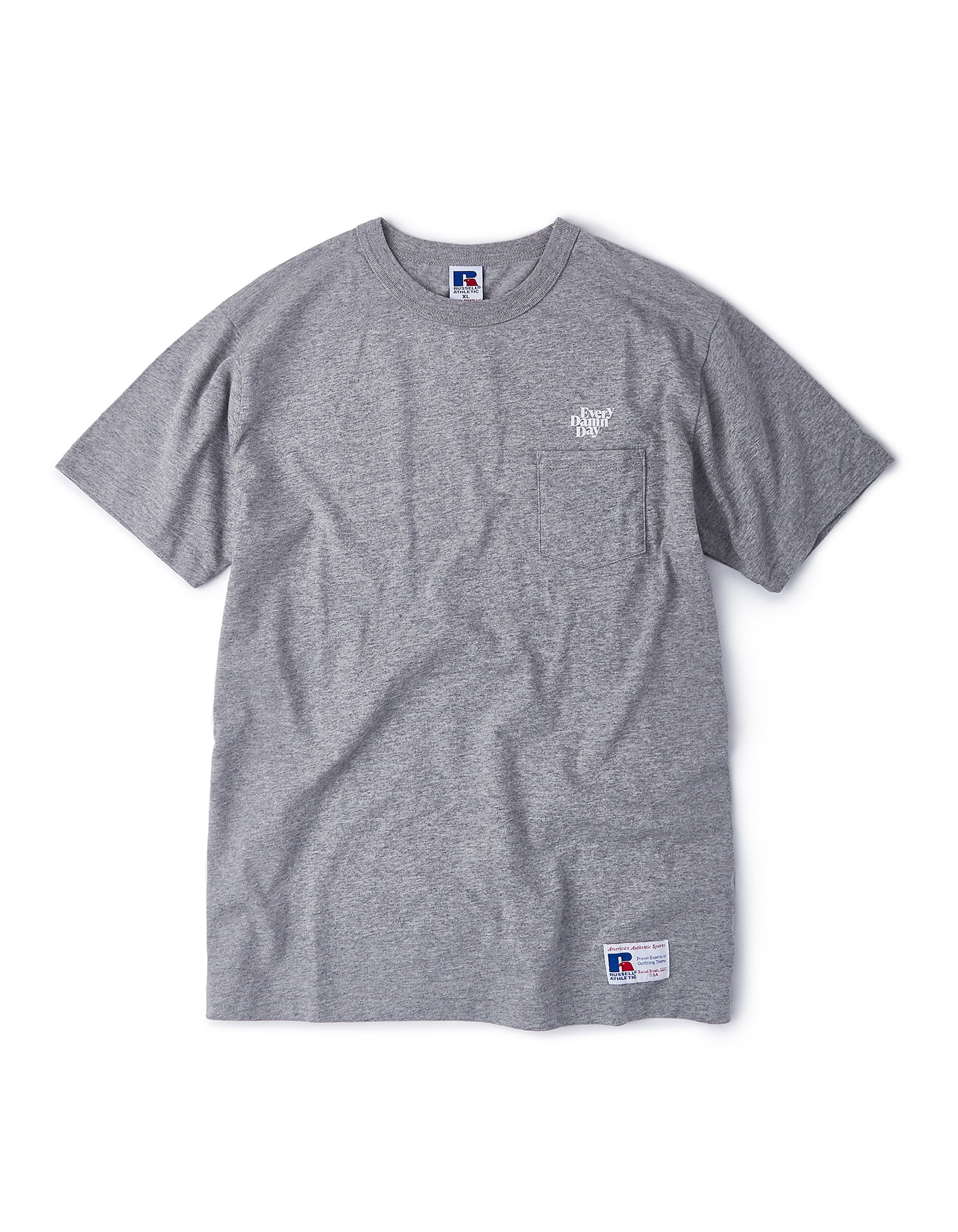 Every Damn Day Pocket T-shirts - Grey/White