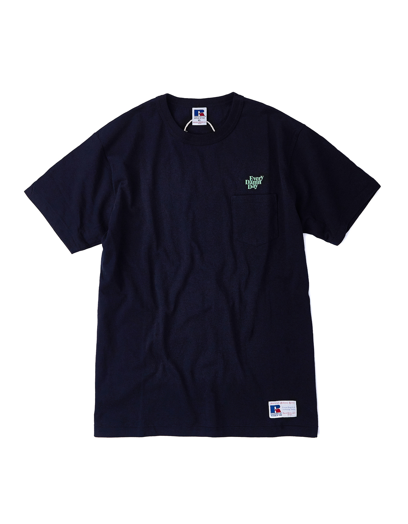 Every Damn Day Pocket T-shirts - Navy/Mint