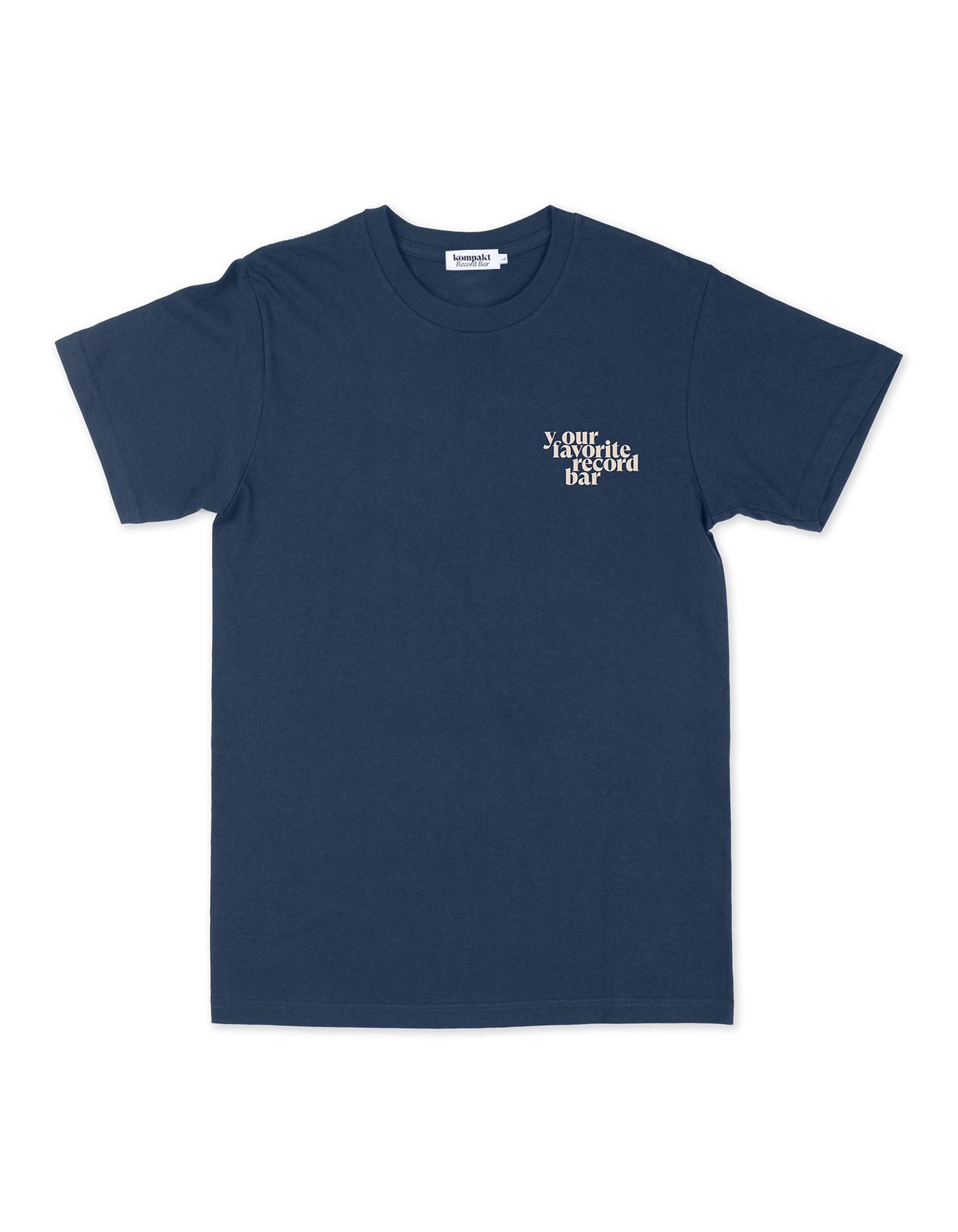 Your favorite record bar T-shirts - Navy/Sand