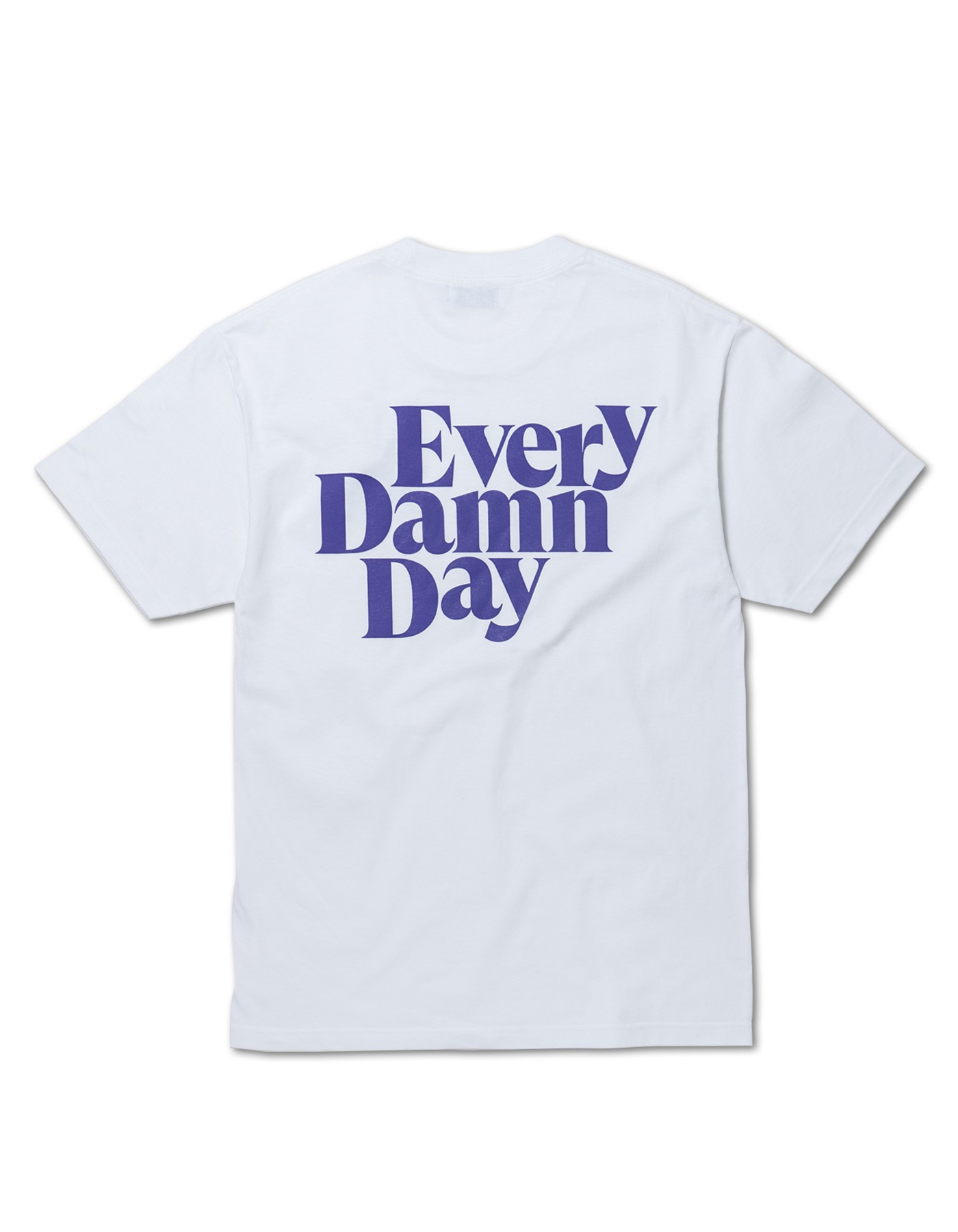 Every Damn Day T-shirts - White/Purple