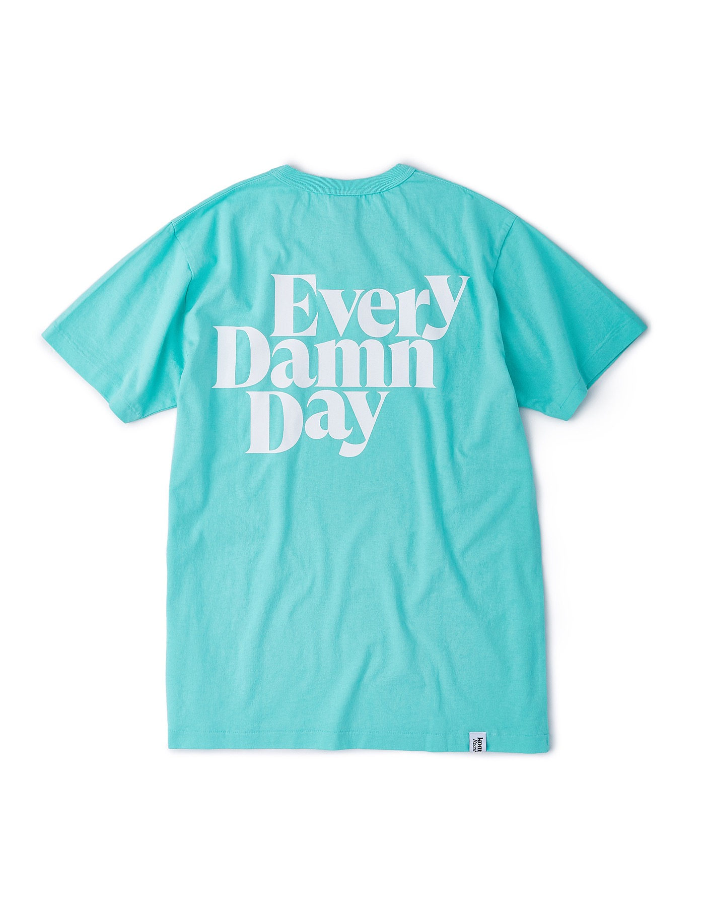 Every Damn Day Pocket T-shirts - Mint/White