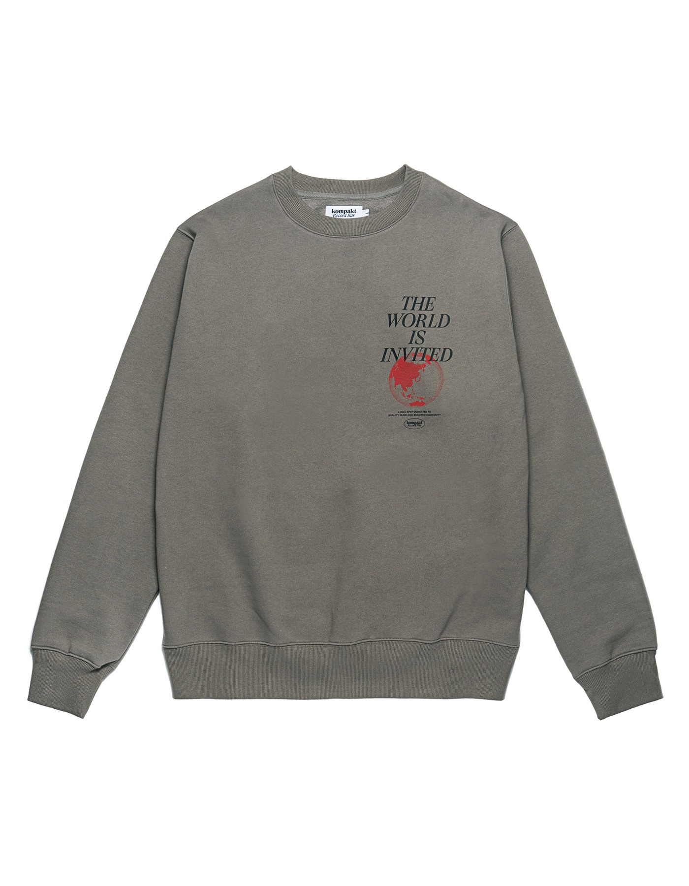 The World Is Invited Crewneck - Grey