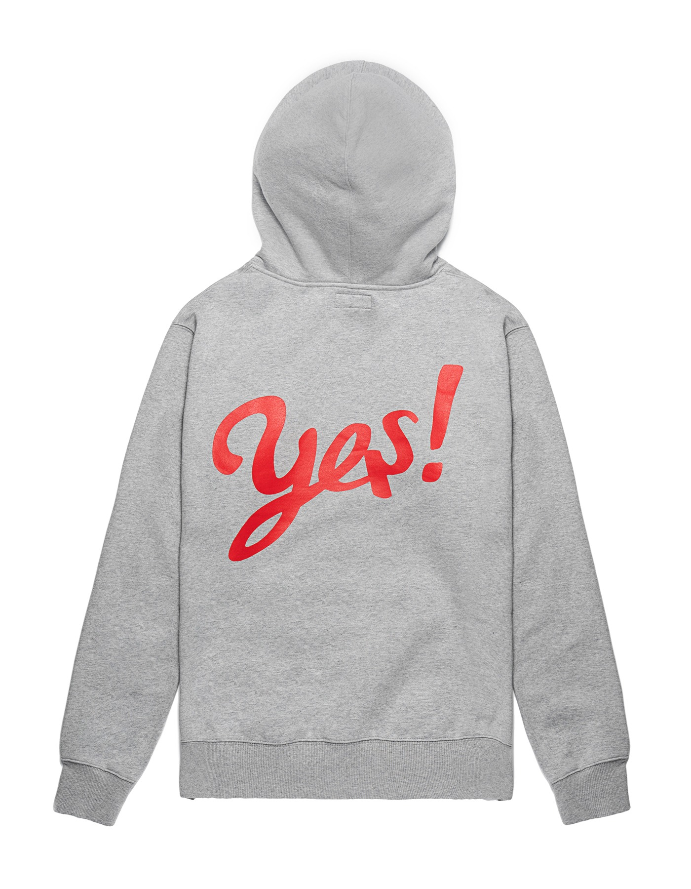 Yes! Hoodie - Grey/Red