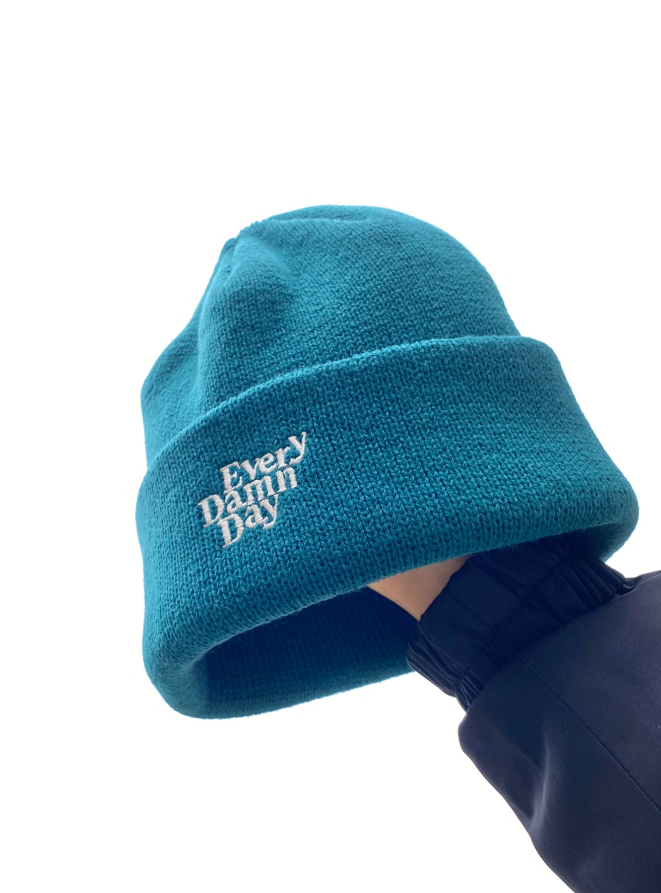 Every Damn Day Beanie - Peacock Green