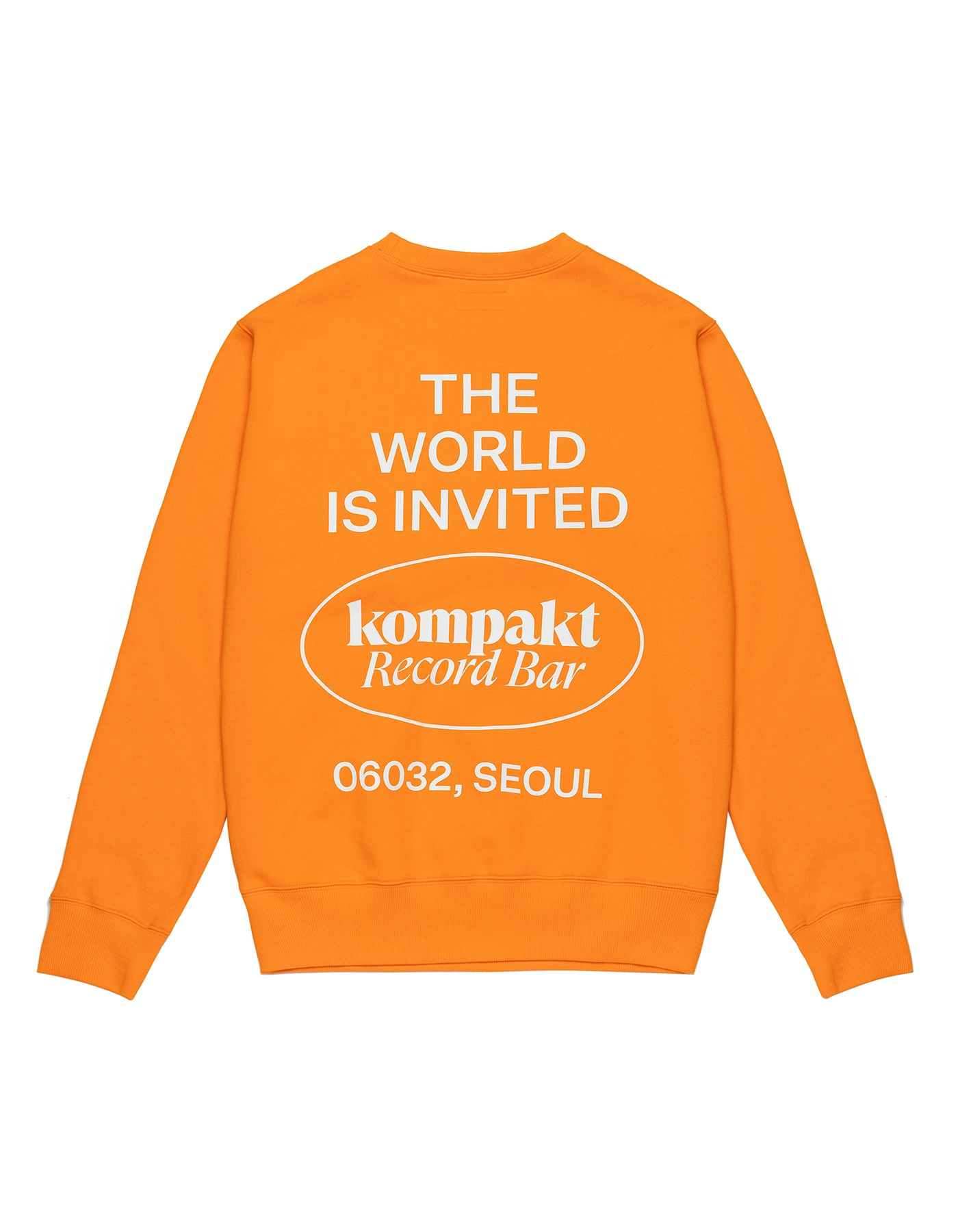 Invited Crewneck - Orange/White
