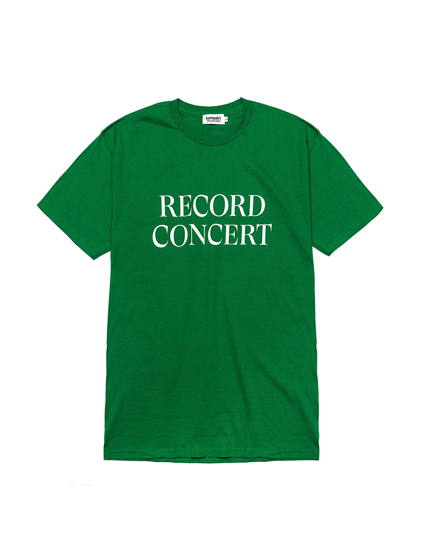 Record Concert T-shirts - Green/White
