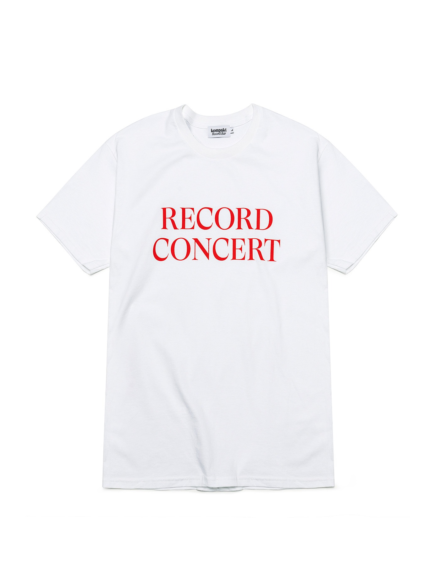 Record Concert T-shirts - White/Red